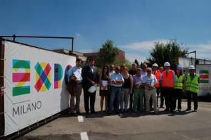 Rho - Il sindaco Pietro Romano visita i cantieri Expo