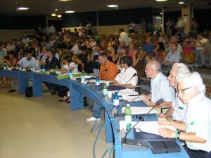 Carlo Delmonte ( terzo da sinistra)  in consiglio comunale ai tempi della Giunta Fornaro