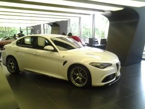 Arese - Museo Alfa Romeo - la nuova 'Giulia'