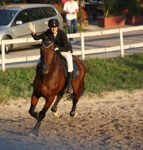 L'istruttrice Elena Crudi, oro nei 100-110