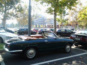 L'arrivo dei partecipanti al Museo storico dell'Alfa Romeo